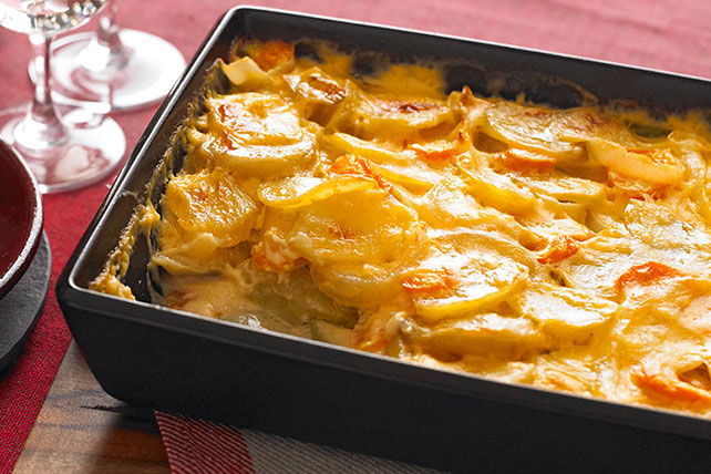 Cheesy Scalloped Potatoes & Carrots Image 1