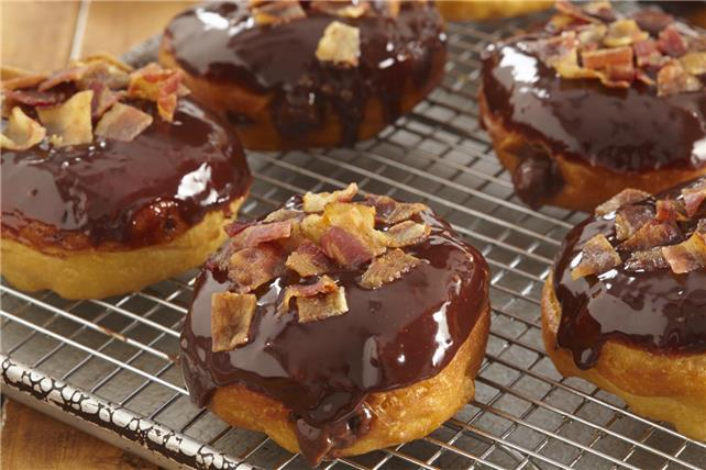Chocolate-Bacon 'Donuts' Image 1