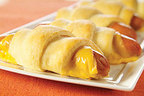 Cheesy Hot Dog Crescents