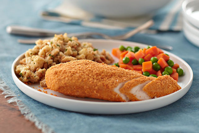 Crispy Chicken with Stuffing Dinner Image 1