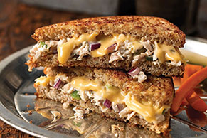 Crunchy Garden Tuna Melts