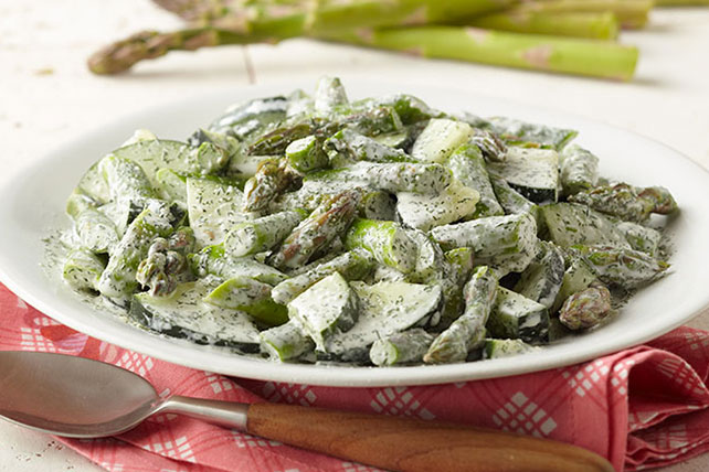 Cucumber-Dill Salad with Asparagus Image 1