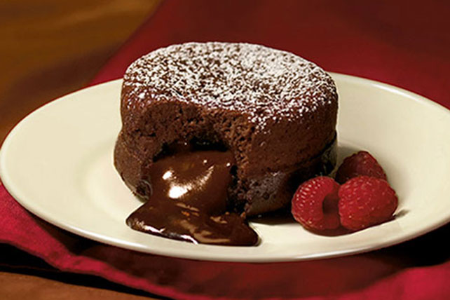 Molten Chocolate Cake For One