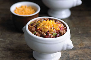Double-Cheese Chili with Ground Beef