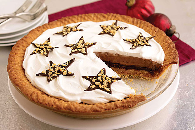 Easy Peanut Butter Cookie Fudge Pie Image 1