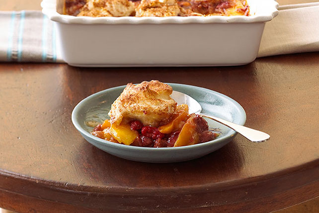 Extra-Easy Cinnamon-Fruit Cobbler Image 1