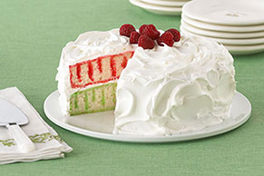 Red and Green Holiday Poke Cake
