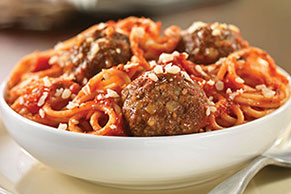 Fresh Grated Parmesan Spaghetti & Meatballs