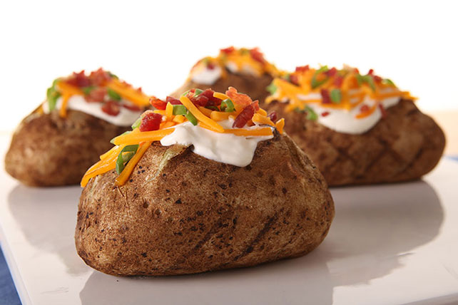 Grilled Baked Potatoes Image 1