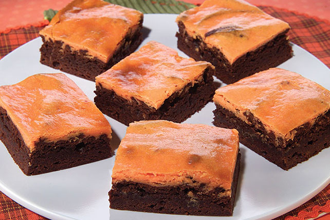 Halloween Cheesecake Brownies