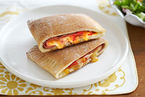Ham 'n Cheese Calzones Recipe