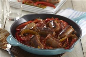 Italian Sausage, Peppers and Onions