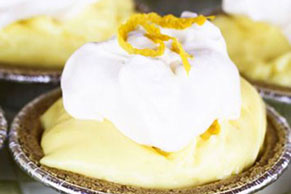 Lemon Cream No-Bake Mini Cheesecakes