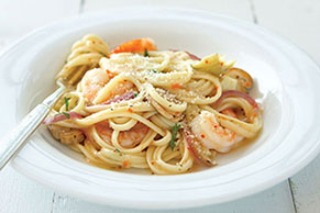 Low Fat Zesty Shrimp Pasta