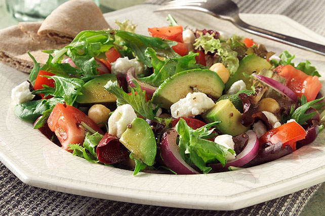 Mediterranean Salad with Feta Cheese Image 1
