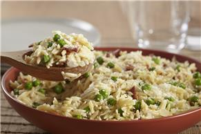 Orzotto with Peas and Bacon