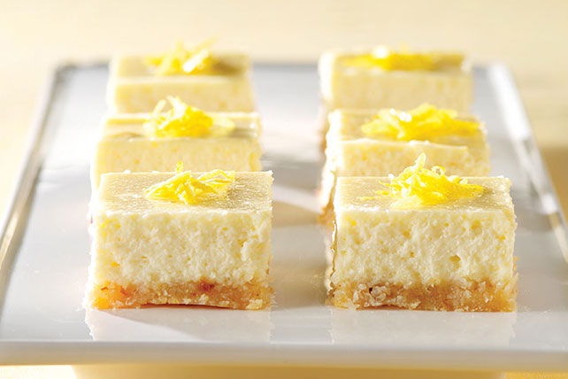 PHILADELPHIA 3-Step Lemon Cheesecake Bars - Kraft Recipes