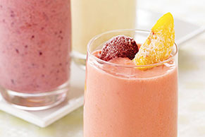 Peachy Strawberry Smoothie