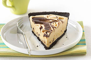 Peanut Butter-Fudge Swirl Pie