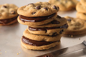 Warm Cookie Sandwiches