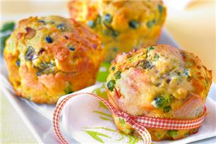 Peas, Onion, Bacon and Egg Bites