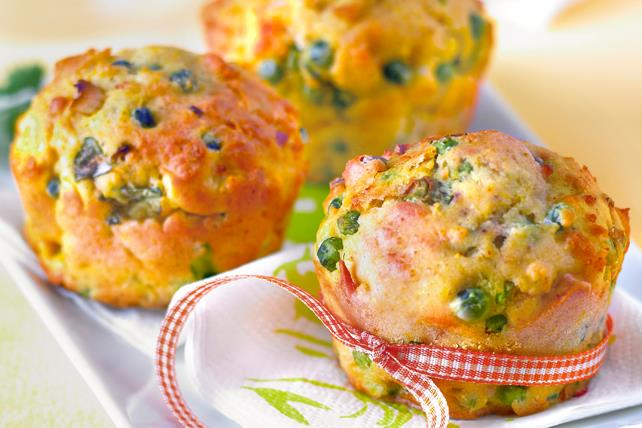 Peas, Onion, Bacon and Egg Bites Image 1