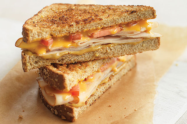 Rustic Honey Mustard-Chicken Grilled Cheese