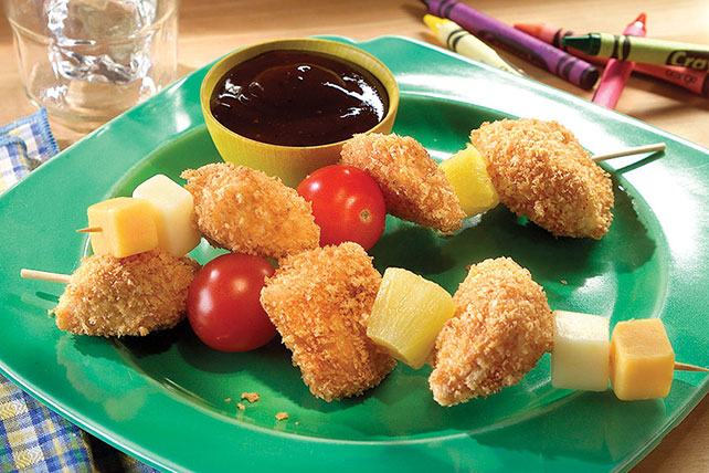 SHAKE 'N BAKE Chicken Nugget Kabobs