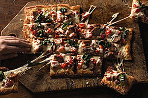 Sausage & Sweet Red Pepper Pizza