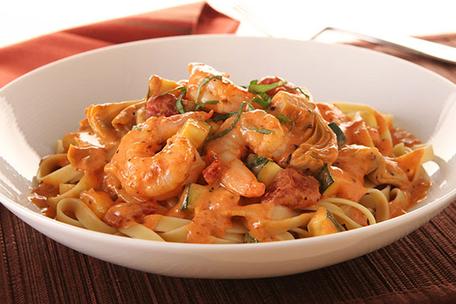 KRAFT RECIPE MAKERS Shrimp with Creamy Tomato Sauce Image 1