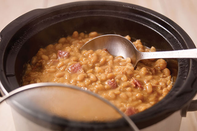 Slow-Cooker Pork and Beans Recipe Image 1