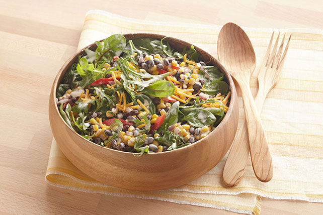 Spicy Southwest Black Bean Corn Salad
