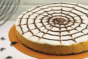 Spider Web Pumpkin Cheesecake
