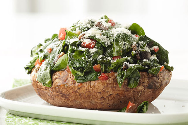 Spinach-Stuffed Portobello Mushrooms