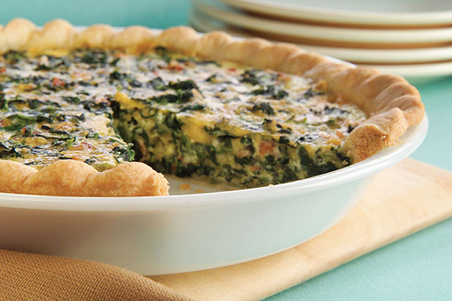 Spinach Quiche with Bacon Image 1