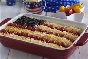 Taco Salad American Flag Dip