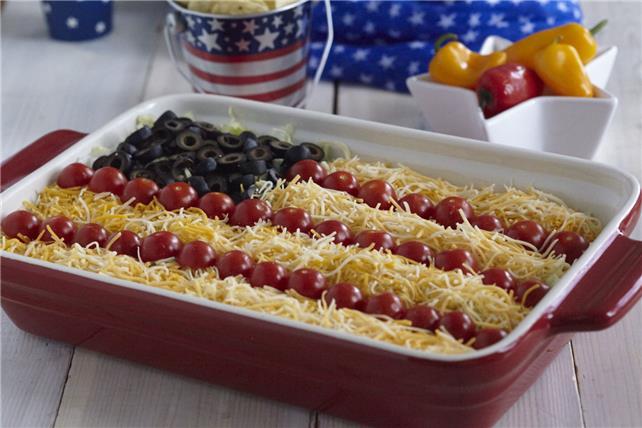 Taco Salad American Flag Dip Image 1