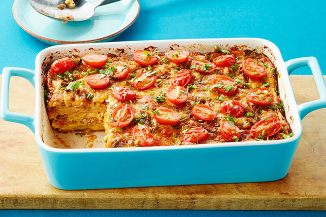 Overnight Tex-Mex Tortilla Brunch Bake