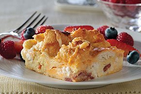 Three-Cheese Brunch Bake
