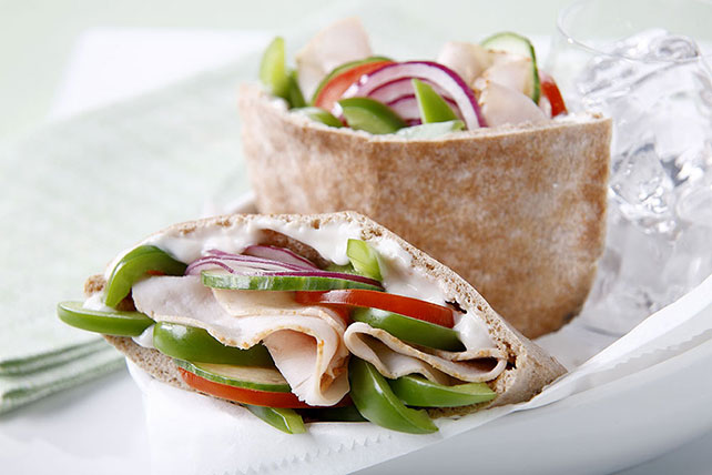 Turkey-Vegetable Pita