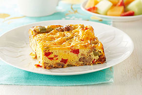 VELVEETA-Salsa Brunch Bake