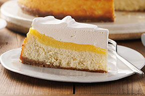 Very Vanilla Custard-Topped Cheesecake