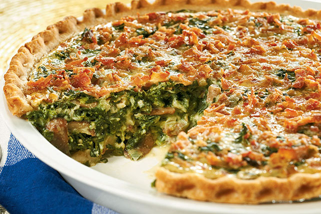 Weeknight Spinach Quiche Recipe