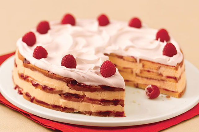 White Chocolate-Raspberry Trifle Cake Image 1