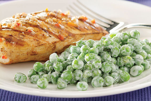 Peas with Dill and Sour Cream