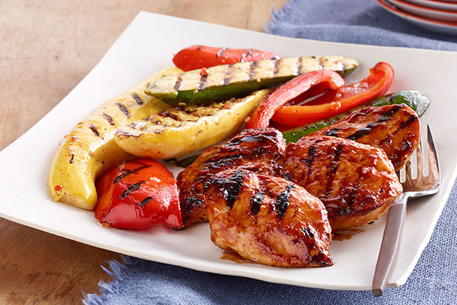 Orange-BBQ Chicken with Grilled Vegetables Image 1