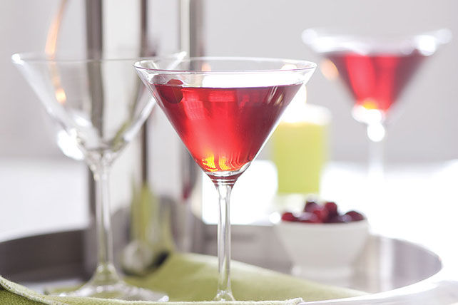 Double berry martini kraft recipes for Christmas in a glass cocktail