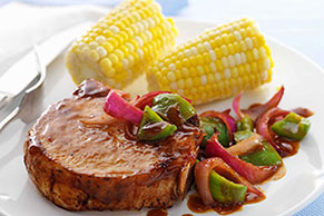 Saucy Barbecued Pork Chop Skillet