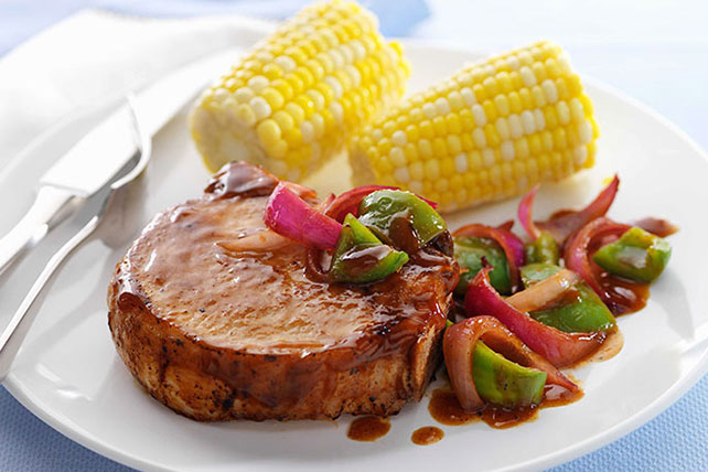 Saucy Barbecued Pork Chop Skillet Image 1