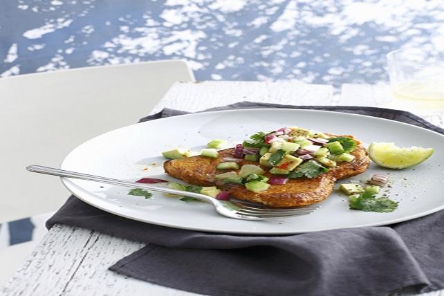 Southwest Pork Chops with Avocado Salsa Image 1